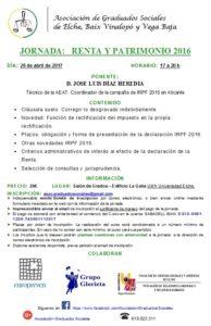 ASOCIACIÓN GS -PROGRAMA JORNADA RENTA 2016